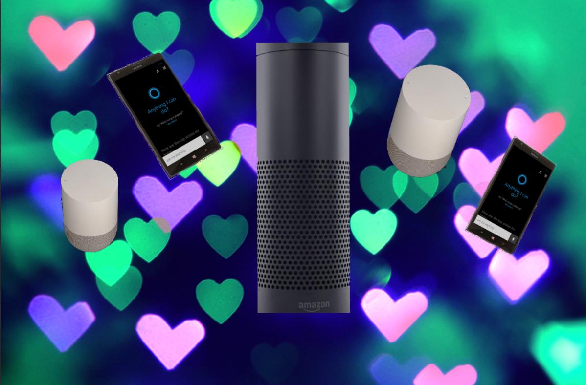 Microsoft Cortana, Amazon Alexa, and the Google Assistant.