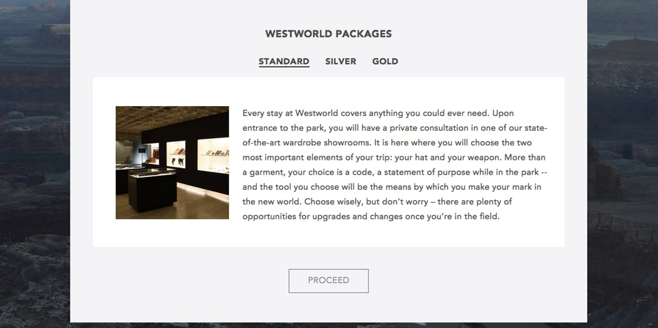 Westworld's Standard Package