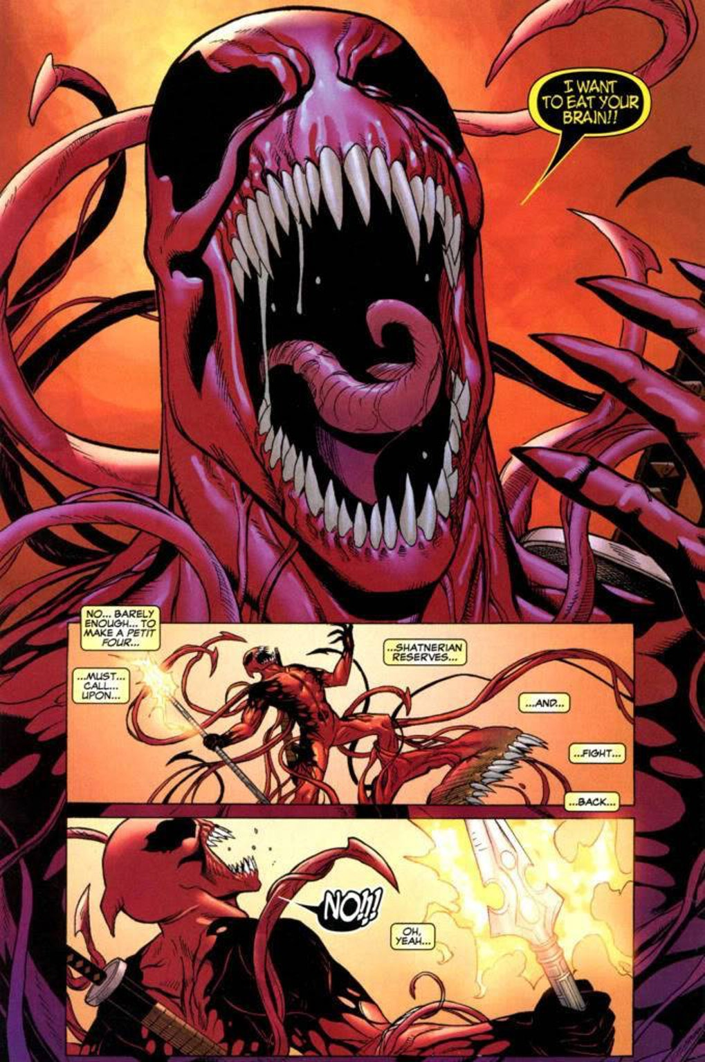 A 2011 one-shot comic previously explored the alien symbiote that made Venom possessing Deadpool.