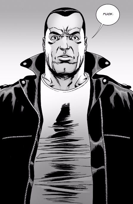 Negan takes a beat after Rick asks him to collaborate