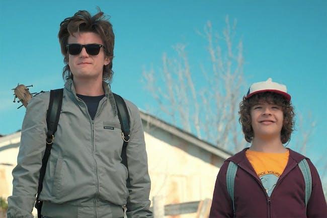 The Steve-Dustin team-up happens midway through Season 2.