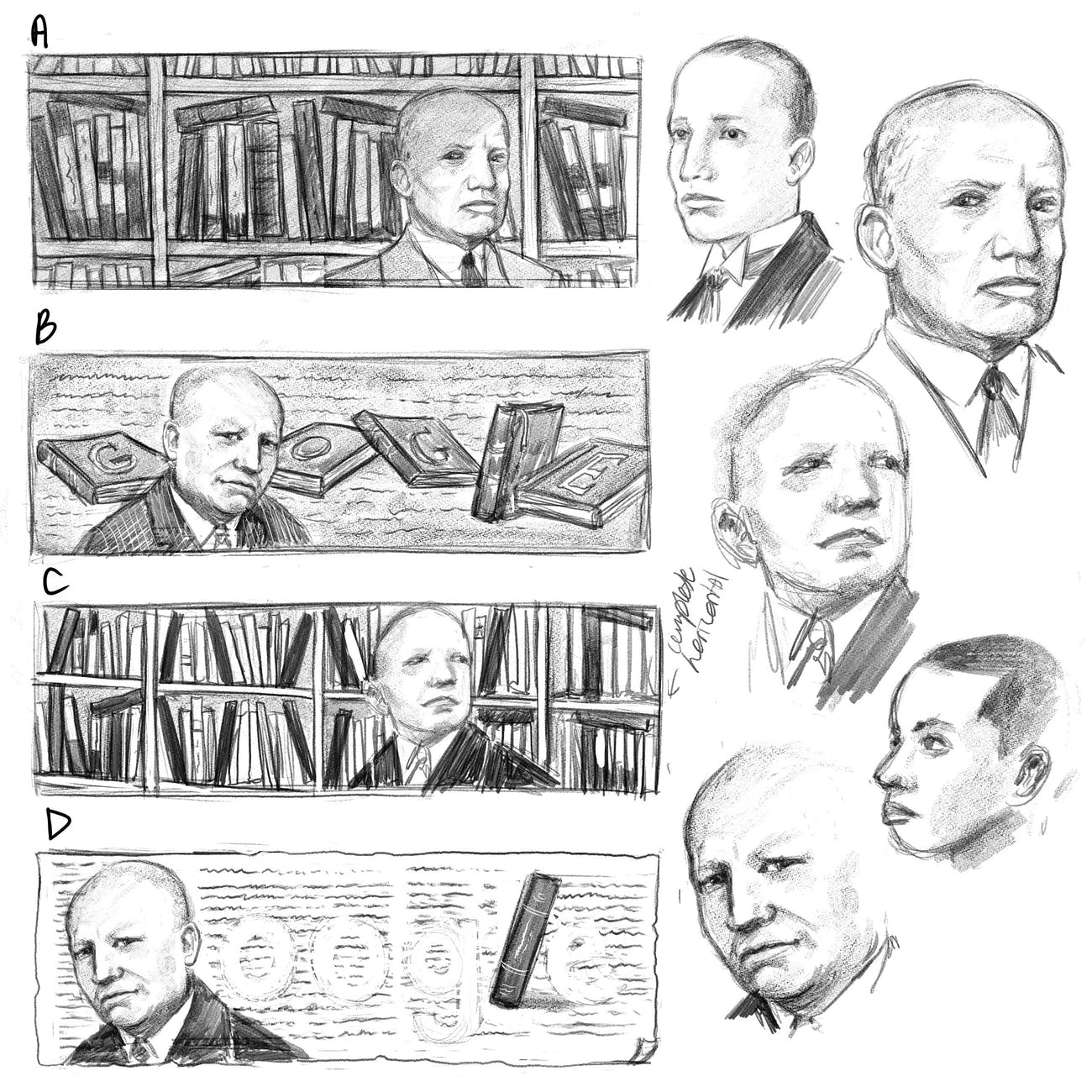 Google's early drafts of the Carter G. Woodson doodle.