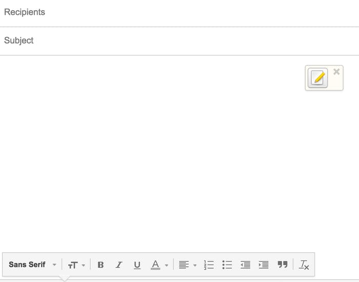 To encrypt your email, click on the logo in the upper right hand corner.