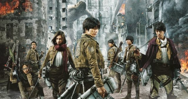 A promo photo from the live-action 'Attack on Titan' film produced in Japan.