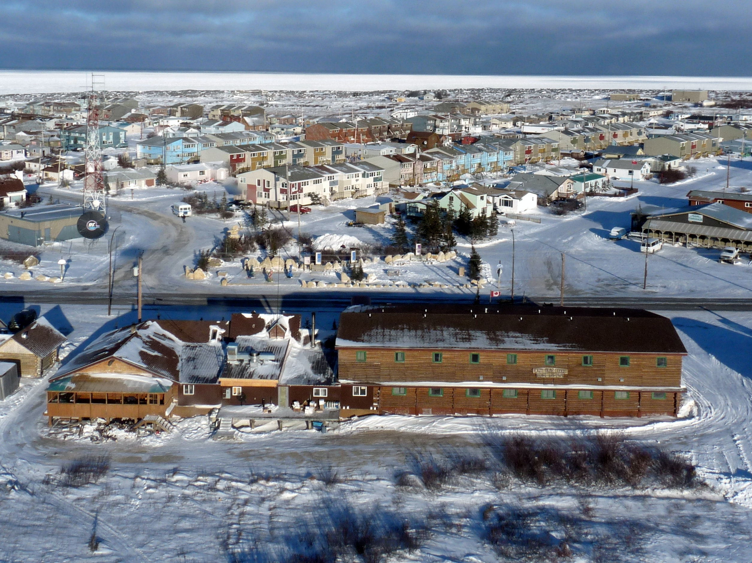 Churchill Manitoba aerial
