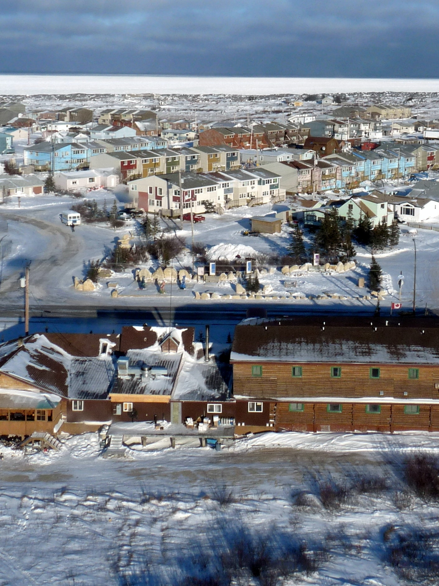 Churchill Manitoba aerial
