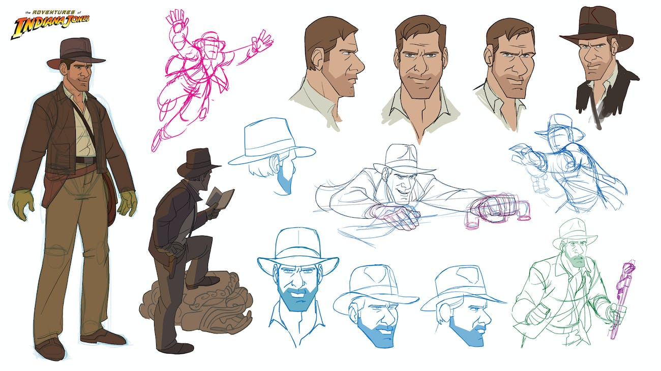 Patrick Schoenmaker's Indiana Jones design sketches.
