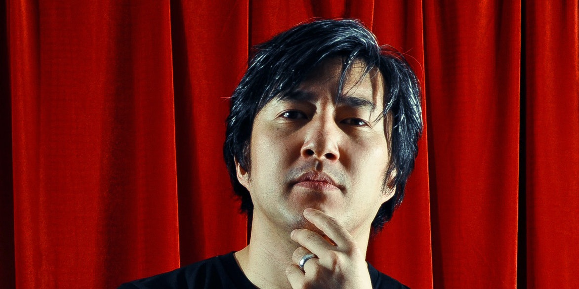 """Goichi """"Suda51"""" Suda looks on imposingly, obviously thinking about game design."""