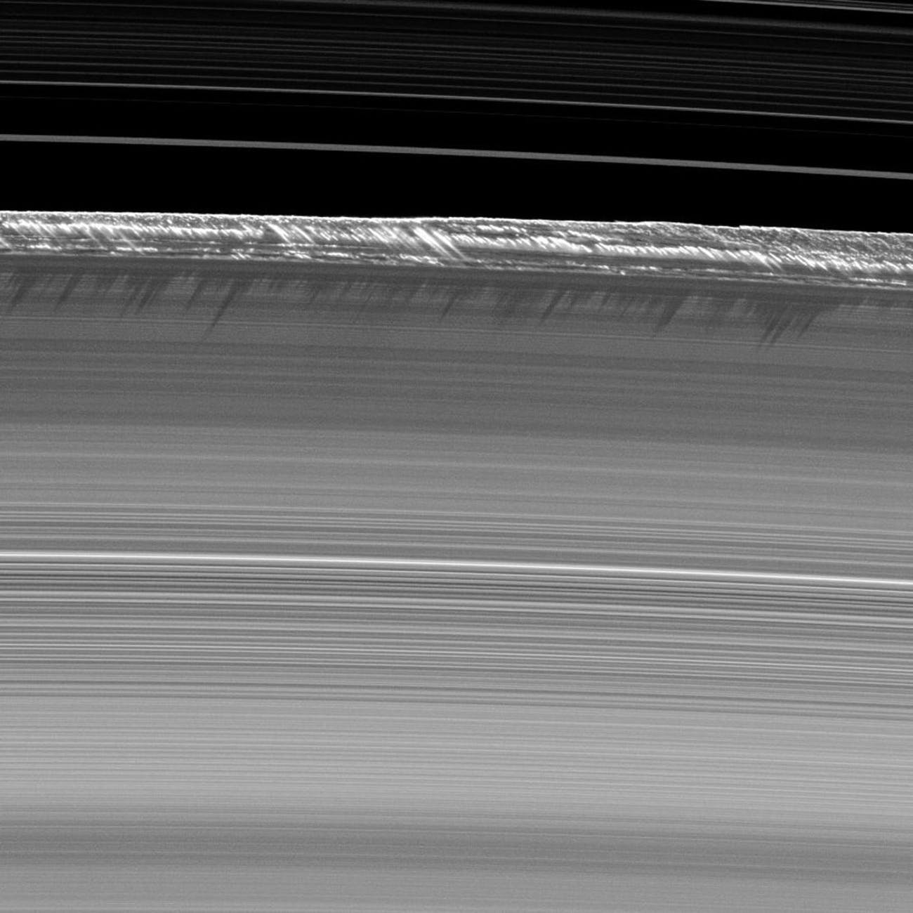 """Saturn's B Ring """"snowy peaks.'"""