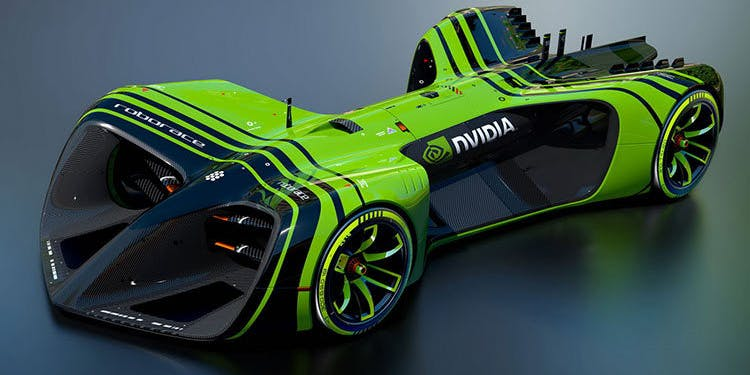 Nvidia will have a car at this weekend's self-racing trials in California.