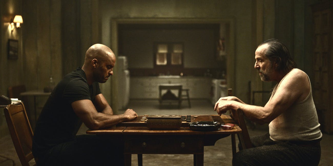 Shadow and Czernobog play checkers in new 'American Gods' clip