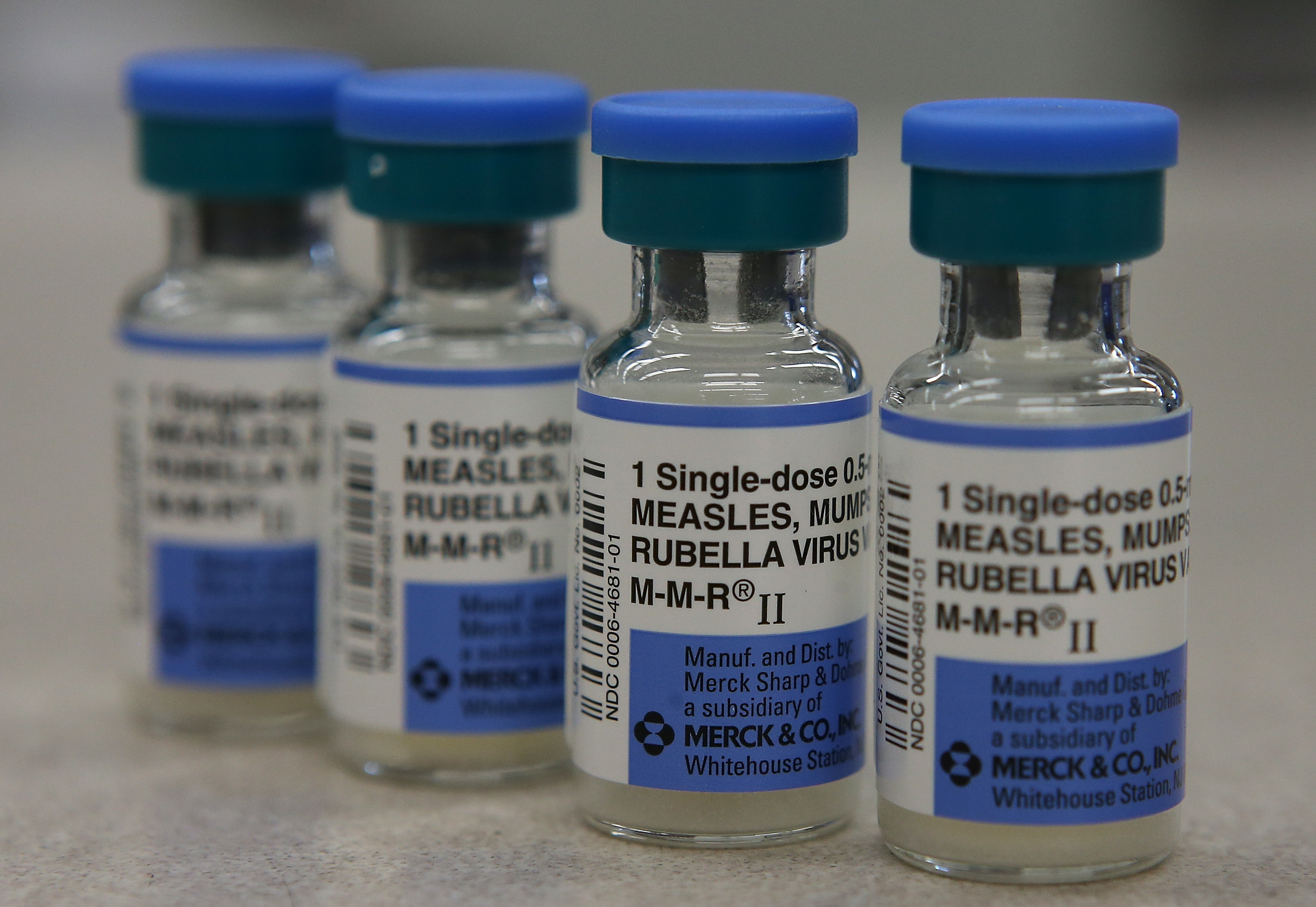 Vials of measles, mumps and rubella vaccine after an outbreak of measles in California grew to 68 cases.