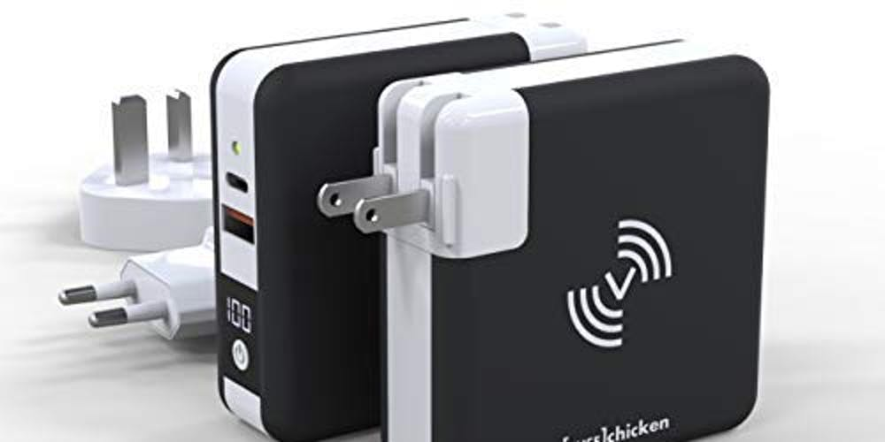 A wireless charging power bank you can take around the world