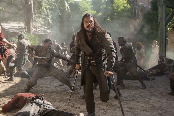 Luke Arnold as John Silver in 'Black Sails' Season 4