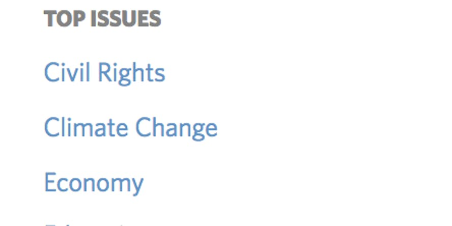 obama's top issues
