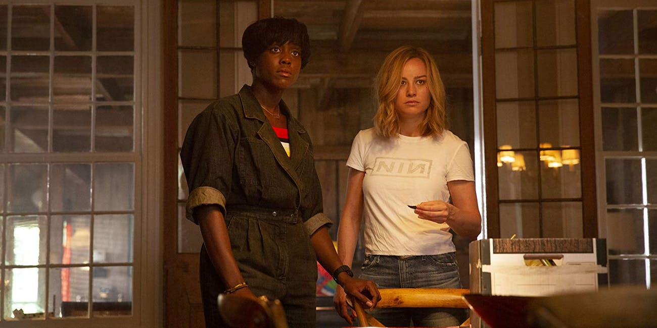 Lashana Lynch as Maria Rambeau (left) with 'Captain Marvel' co-star Brie Larson as Carol Danvers