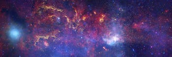 Composite image of the center of the Milky Way galaxy.