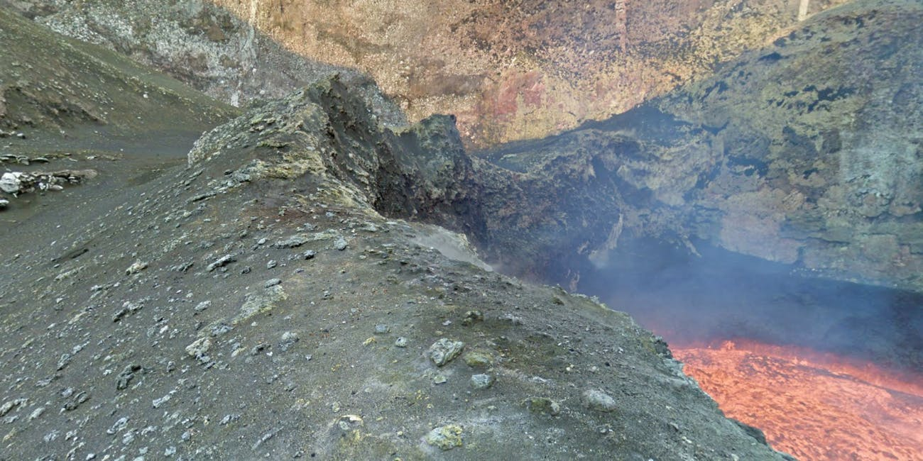 Marum Lava Lake Volcano Active Google Street View