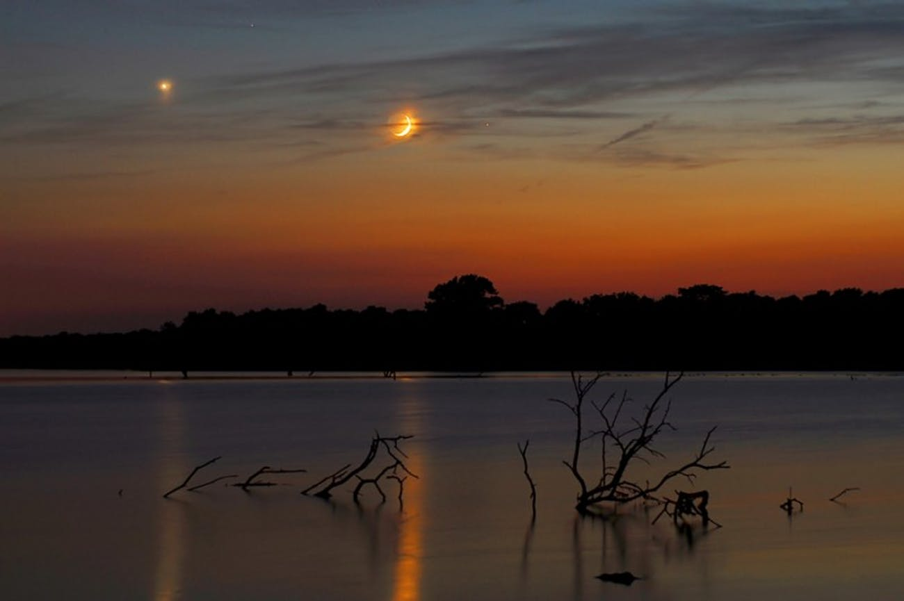 Venus and the moon in Missouri