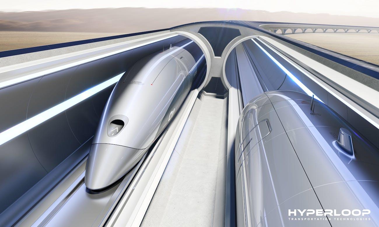 Hyperloop artist impression.