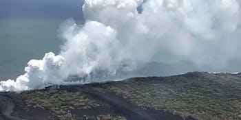 hawaii volcano glass laze