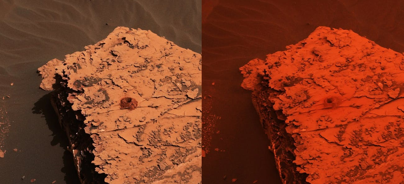 mars dust storm gale crater