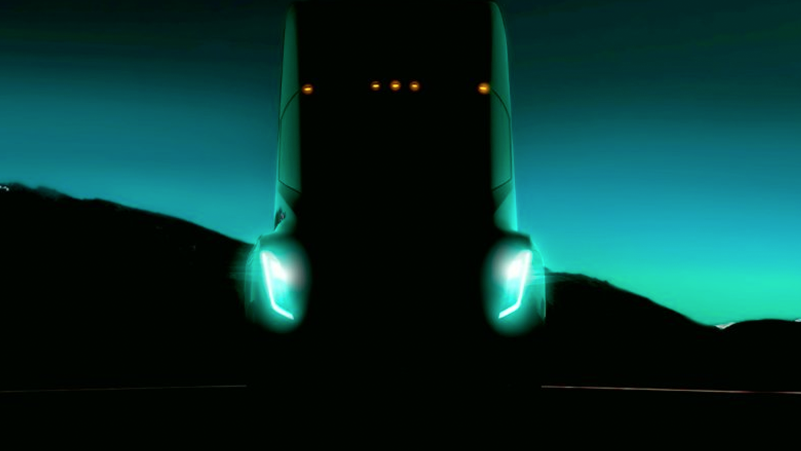 Tesla's teaser image of the semi truck