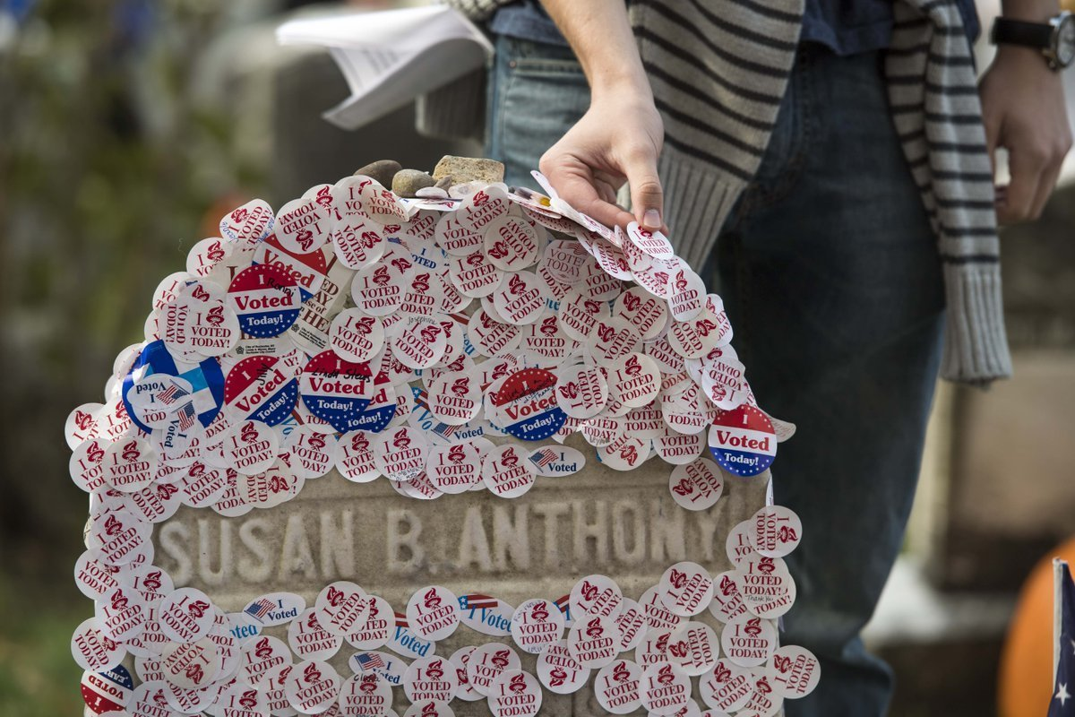 Election Day hours extended for Susan B. Anthony's gravesite