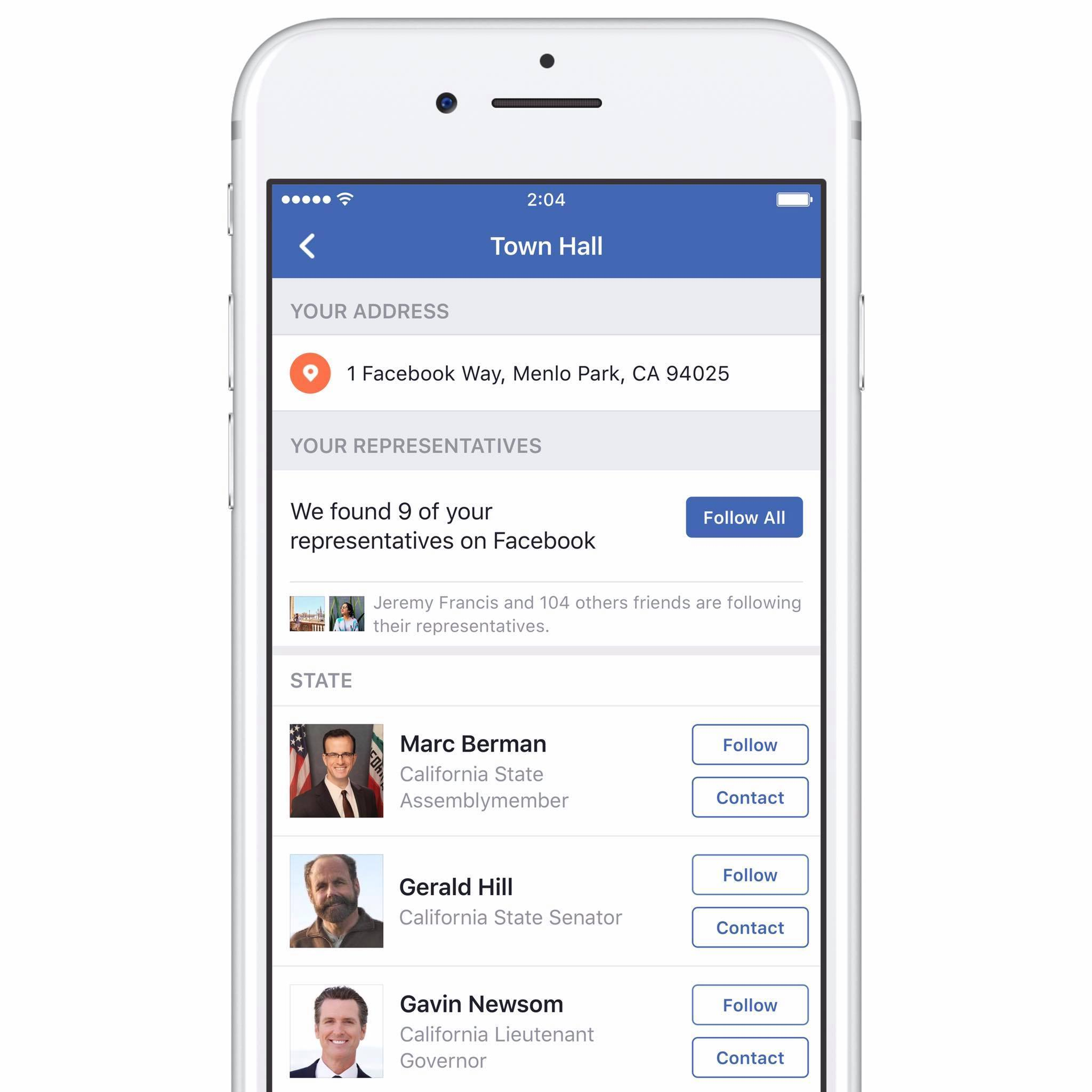 Facebook Town Hall New Feature