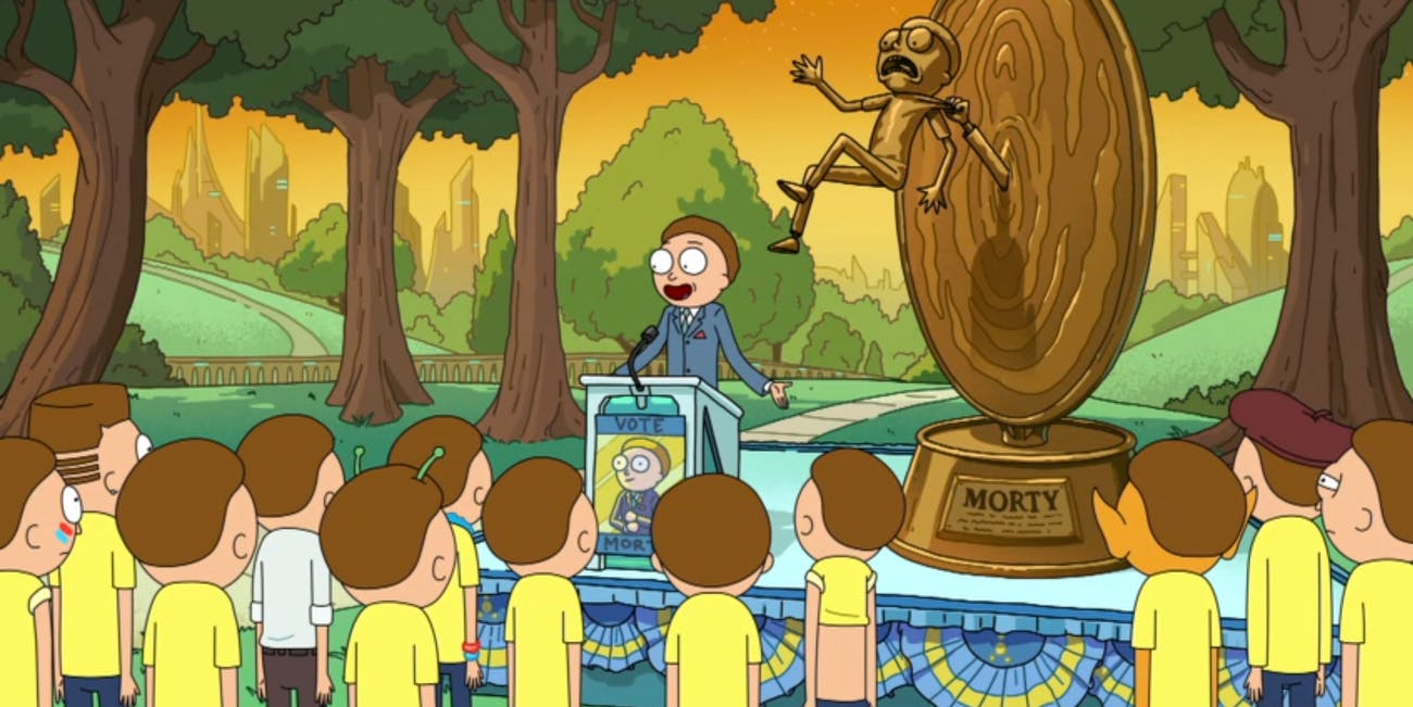 When a Morty becomes president of the Citadel, it means bad things are coming.