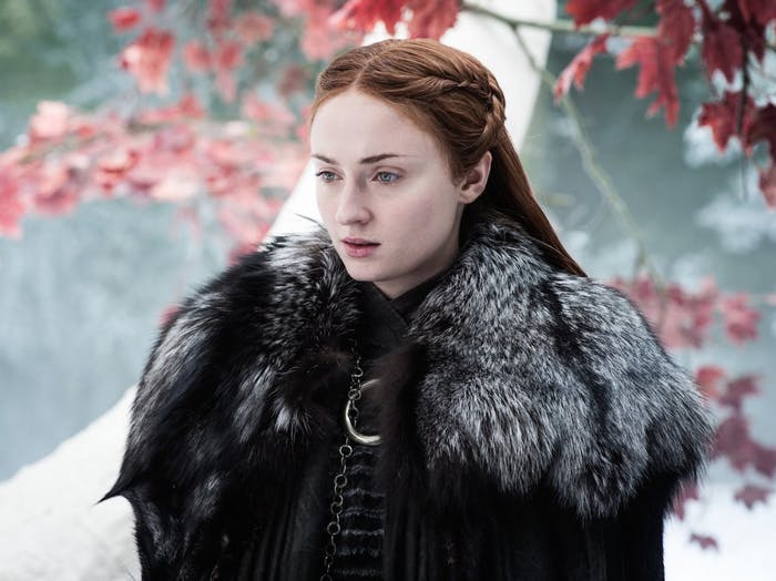 "Sophie Turner as Sansa Stark in 'Game of Thrones' Season 7 episode 4 ""The Spoils of War"""
