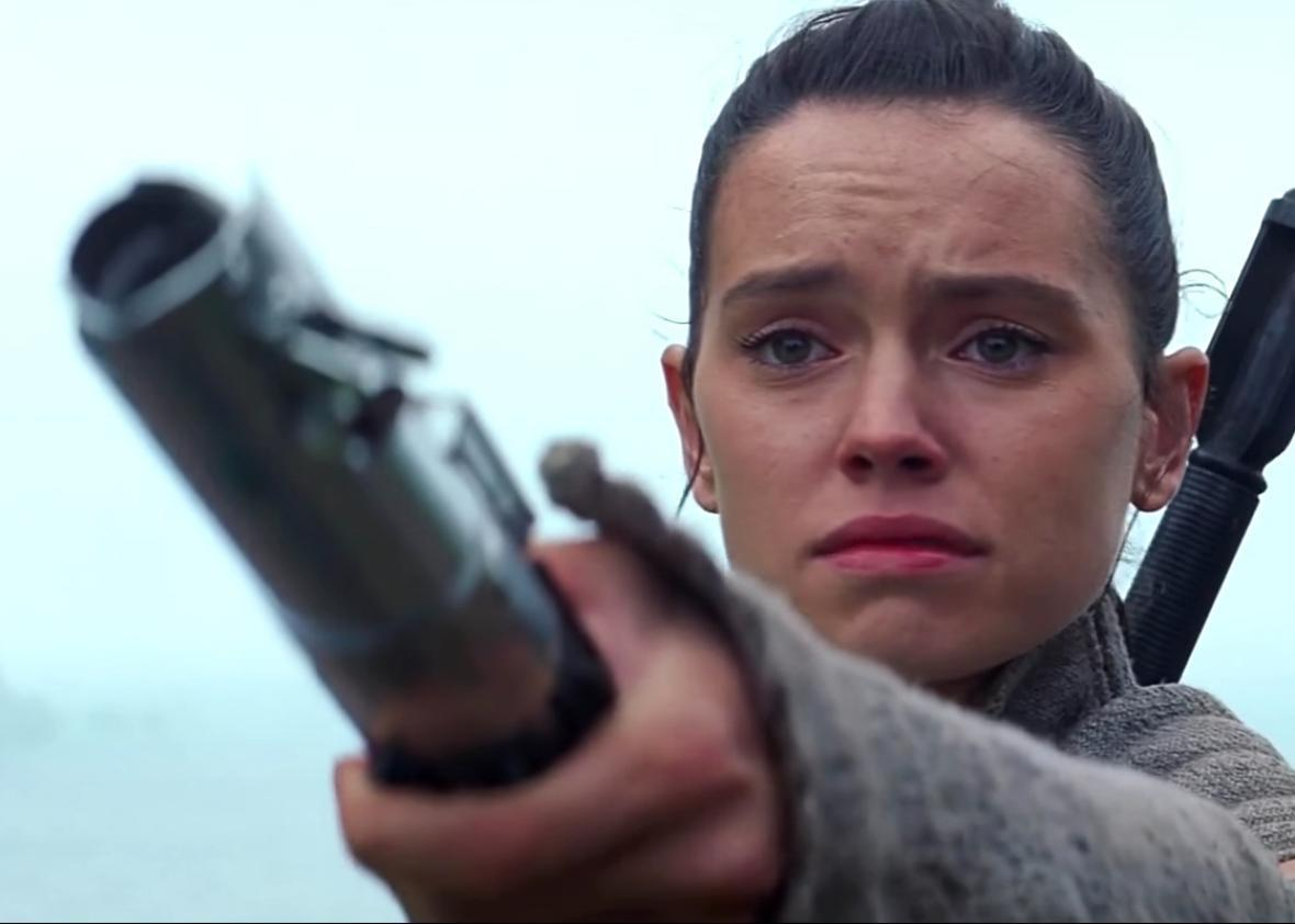 In the final moments of 'The Force Awakens,' Rey reached out to Luke Skywalker with the lightsaber he lost more than three decades prior.