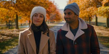 Francesca (Alessandra Mastronardi) and Dev (Aziz Ansari) in 'Master of None' Season 2.