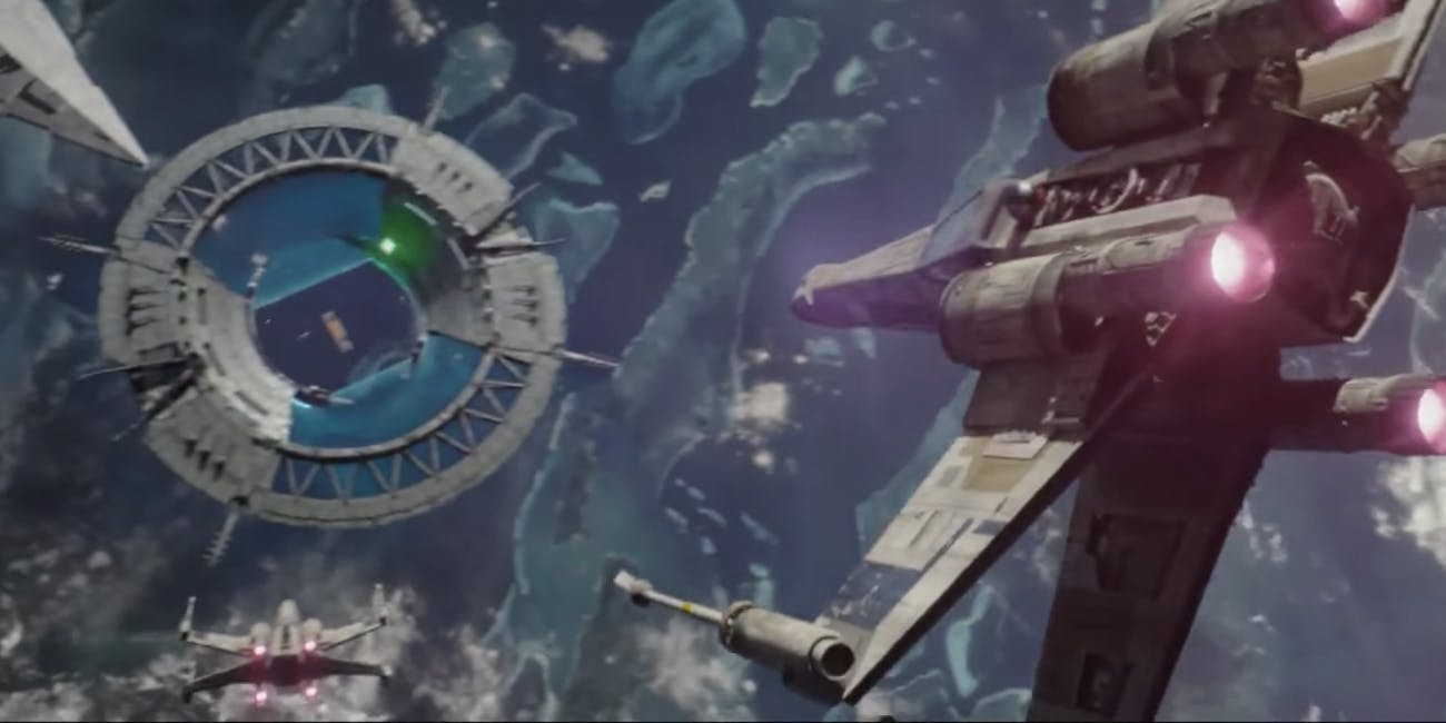 The Shield Gate in the climactic battle in 'Rogue One'