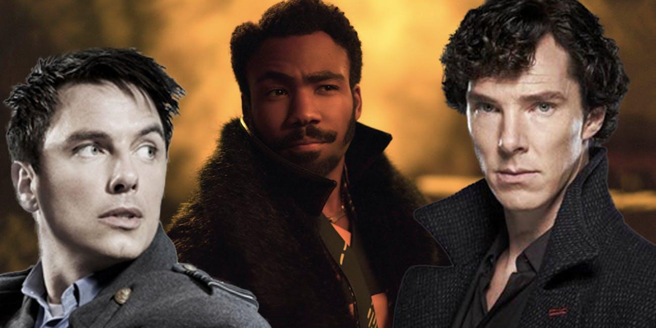 Captain Jack Harkness, Captain Lando Calrissian, and Sherlock Holmes