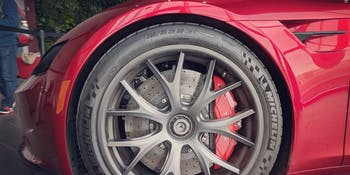 Tesla next-gen Roadster at Gigafactory