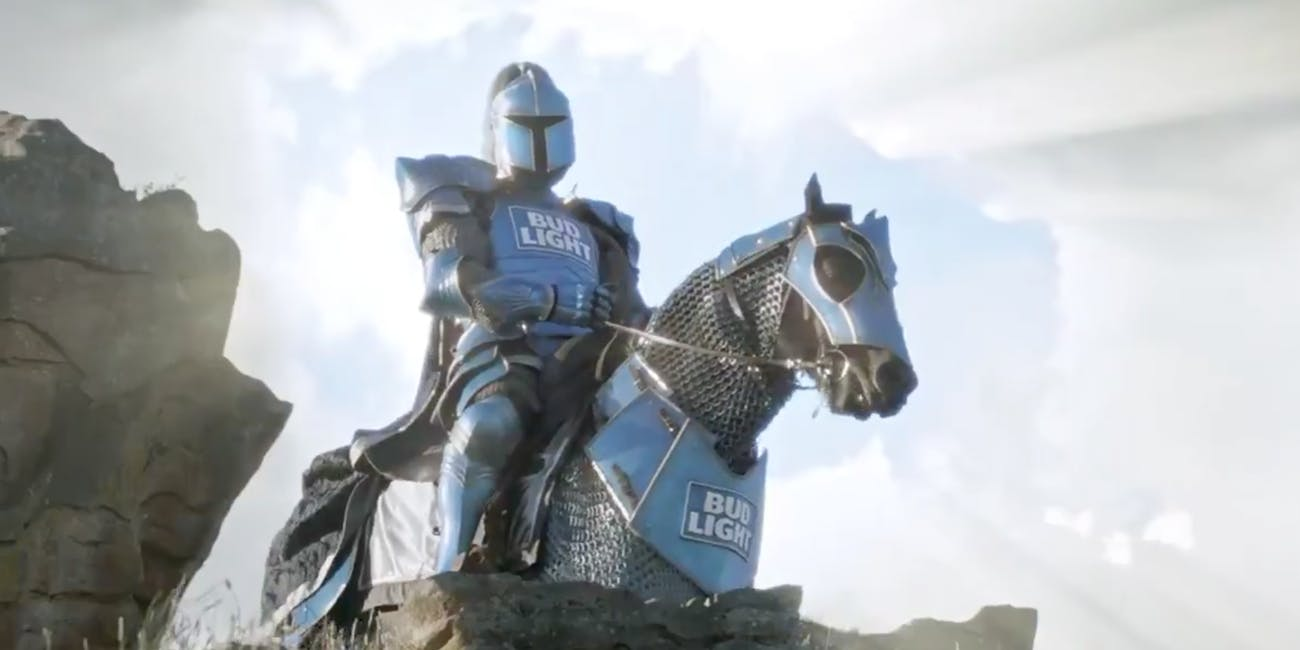 The Bud Knight in Bud Light's Super Bowl LI commercial