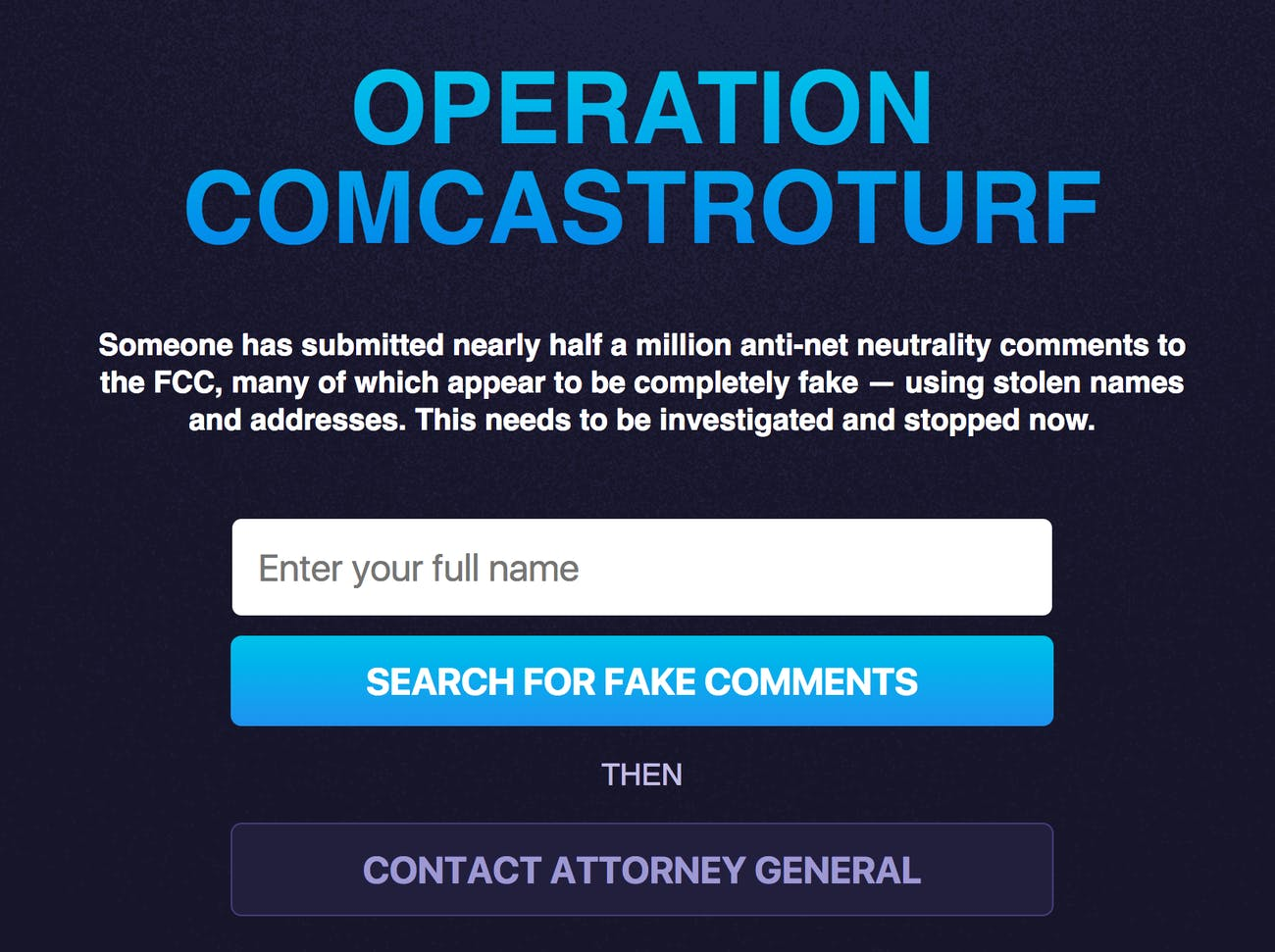 Comcast Threatens to Sue Pro-Net Neutrality Website