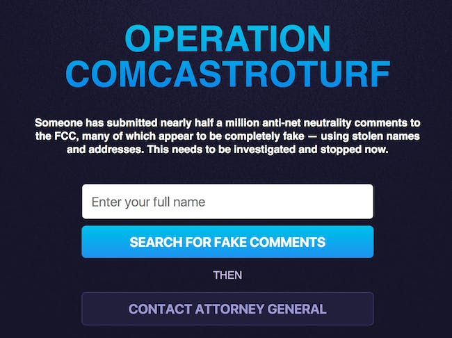 Comcast Threatens to Sue Pro-Net Neutrality Website