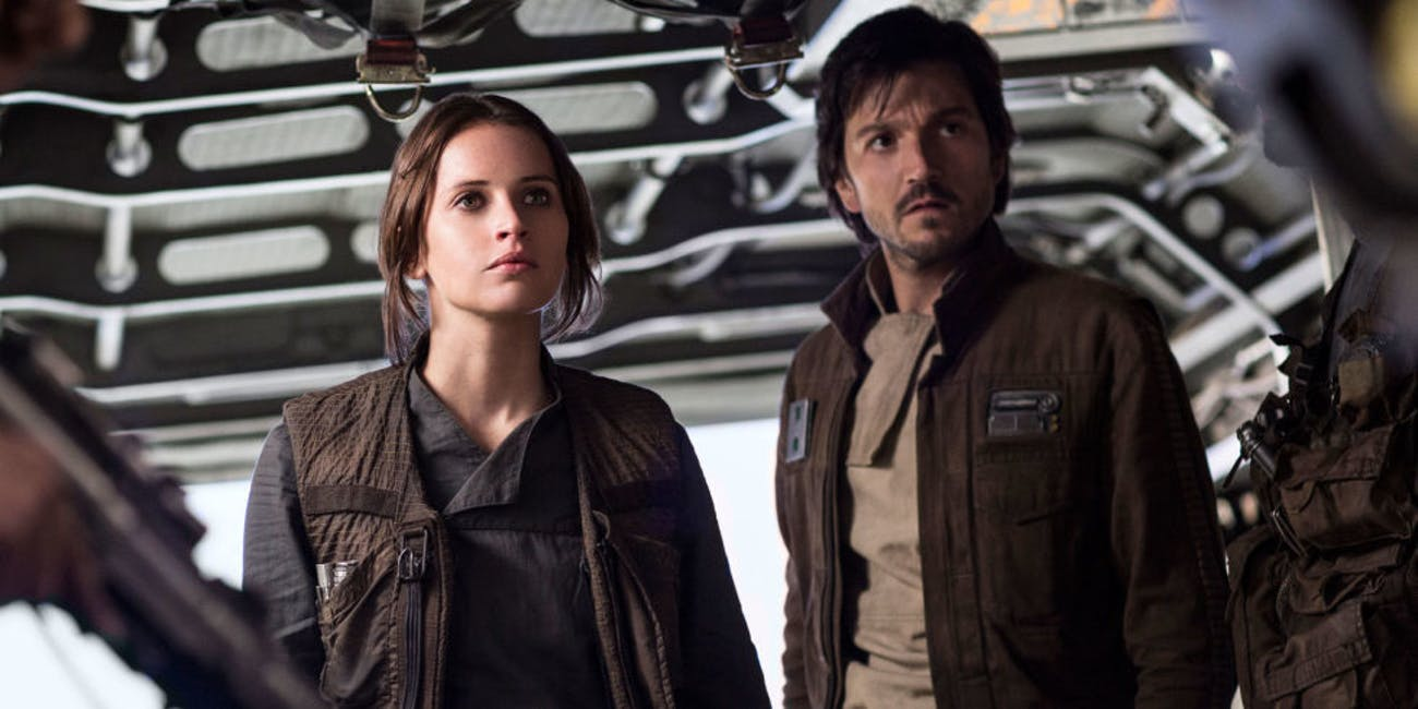 Rogue One reshoots Jyn Erso Cassian Andor
