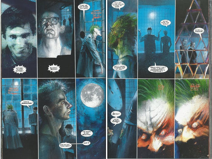 The Joker contemplates insanity in Grant Morrison's 'Arkham Asylum'