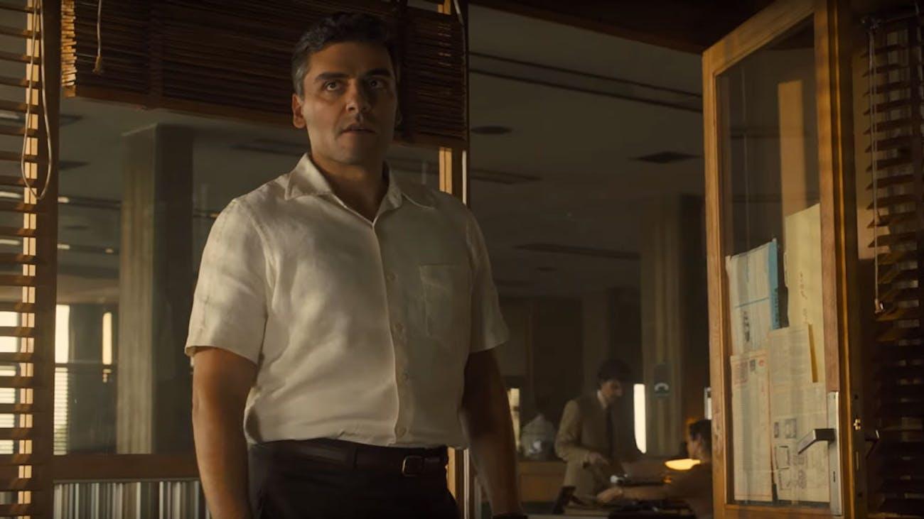 Oscar Isaac as Peter Malkin in 'Operation Finale'.