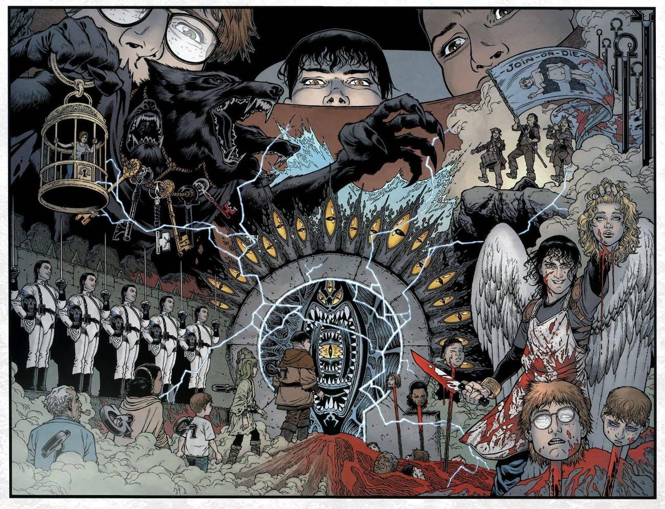 'Locke & Key' sounds like pretty fun fantasy, but it's moreso gruesome, Lovecraftian horror.