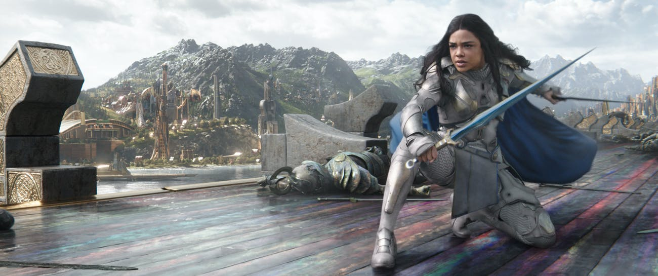 Tessa Thompson as Valkyrie in 'Thor: Ragnarok'.