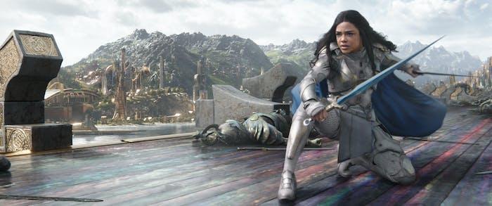 Tessa Thompson as Valkyrie in 'Thor: Ragnarok'.