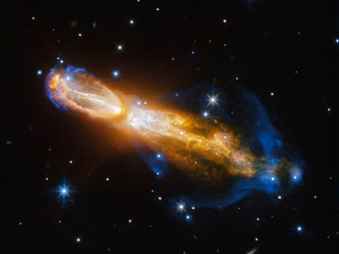 Hubble Catches a Smelly Star Farting Away to Death