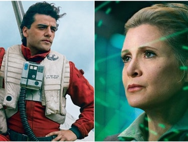 "Oscar Isaac Shot a ""Pretty Intense"" Scene With Carrie Fisher"