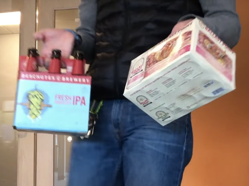 One-touch beer delivery is a glorious thing.