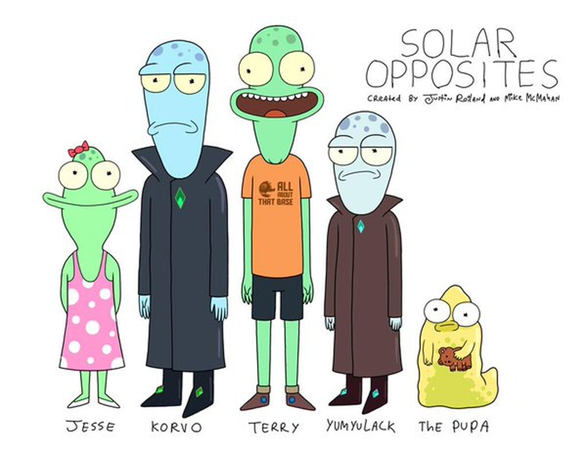 The first official image from 'Solar Opposites' brings the whole family together.
