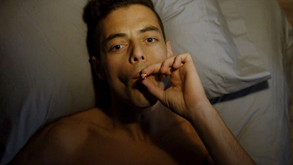 Elliot smokes weed frequently, but his main drug of choice is morphine or other heavy opiates.